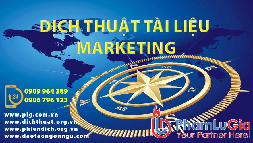 Công ty dịch thuật Marketing